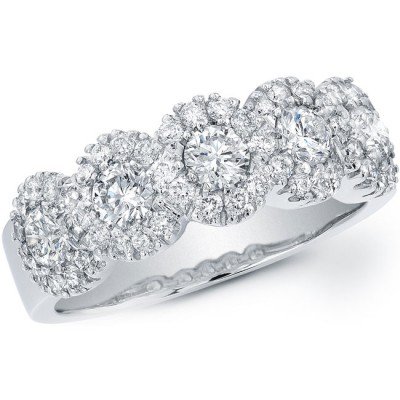 14k White Gold Classic Diamond Band