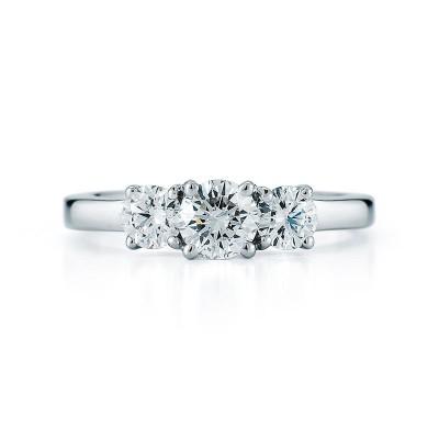 3 Stone Round Diamond Ring
