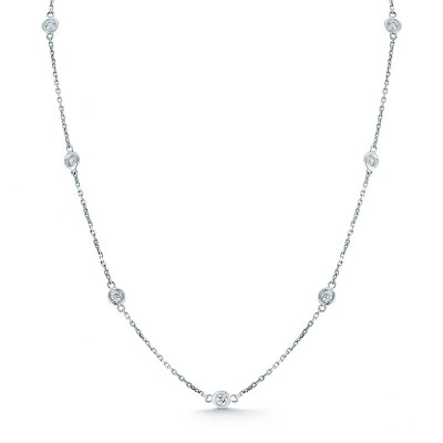 Round Diamond by the Yard Necklace