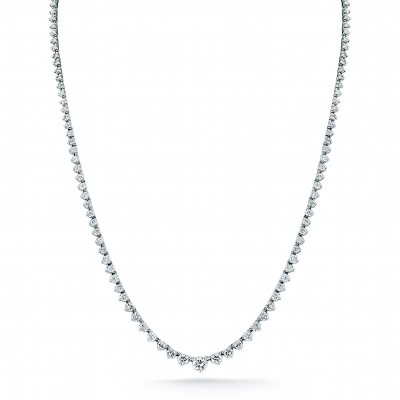 Round Diamond Riviera Necklace