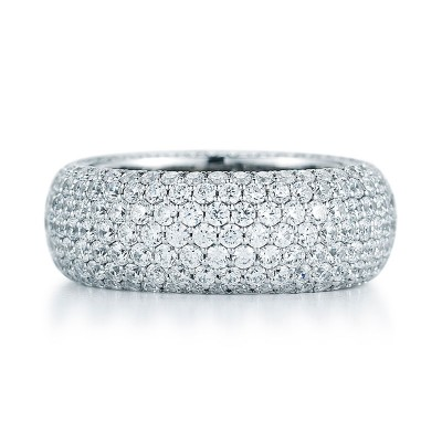 Round Micro Pave Diamond Eternity Band