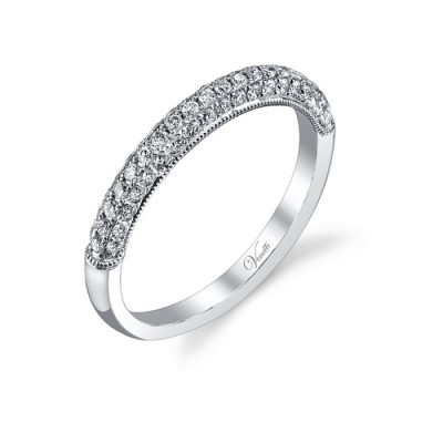 14K W BAND 58RD 0.48CT