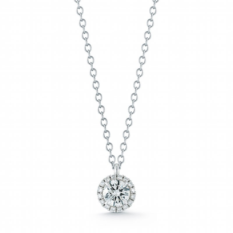 Round Halo Diamond Pendant