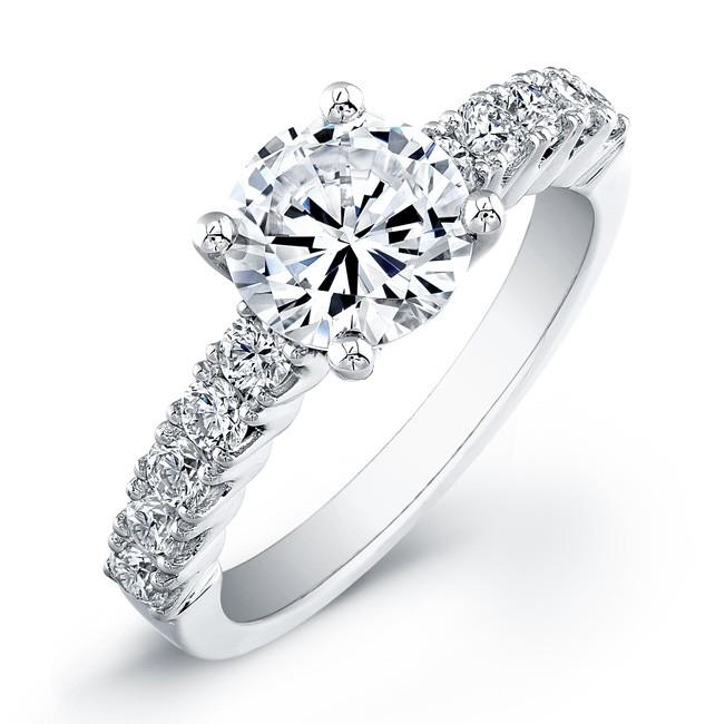 18k White Gold Contemporary Diamond Semi Mount