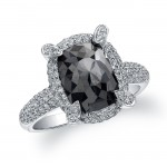 18k White Gold Black Diamond Ring