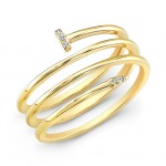 14k Yellow Gold Wrapped Nail Ring