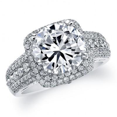 Diamond Halo Pave Semi-Mount
