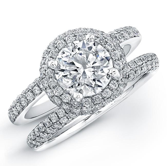 M K Diamonds Jewelry 14k White Gold Micro Pav