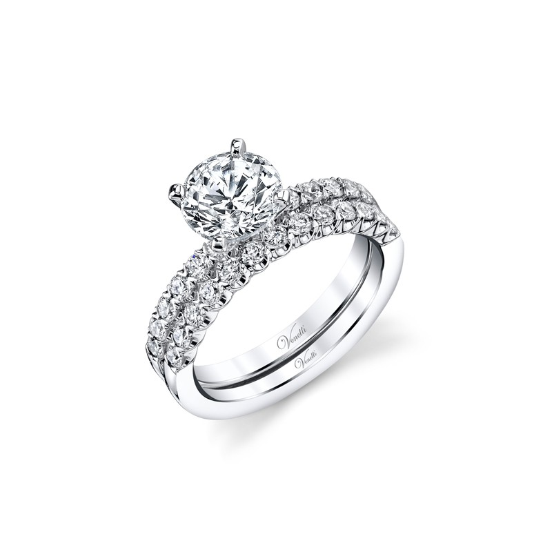 14K W SET RING 25RD 0.75CT