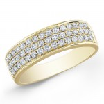 14k Yellow Gold Classic Pave Band